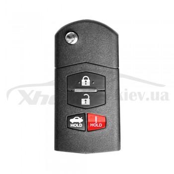 Ключ универсальный выкидной KD B14-3+1 3 but+PANIC Keydiy
