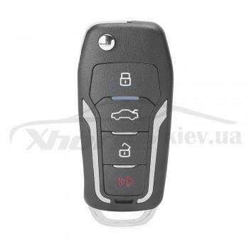 Ключ универсальный выкидной Smart KD ZB12-4 3 but+PANIC Keydiy