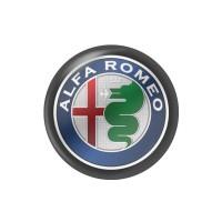 Стікер (наліпка) 14 мм  Alfa Romeo для автомобільного ключа
