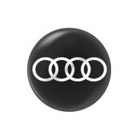 Стікер (наліпка) 14 мм  Audi для автомобільного ключа