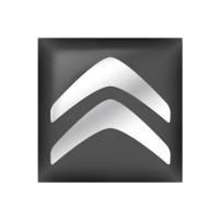 Стікер (наліпка) квадрат 15,6х15,6 Citroen для автомобільного ключа