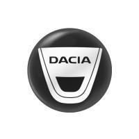 Стікер (наліпка) 14 мм Dacia для автомобільного ключа