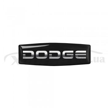 Стикер (наклейка) прямоугольник 26,5х7,7 мм Dodge для автомобильного ключа