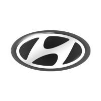 Стікер (наліпка) овал 14,7x7,5 мм Hyundai для автомобільного ключа