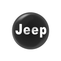 Стикер (наклейка) 14 мм Jeep для автомобильного ключа