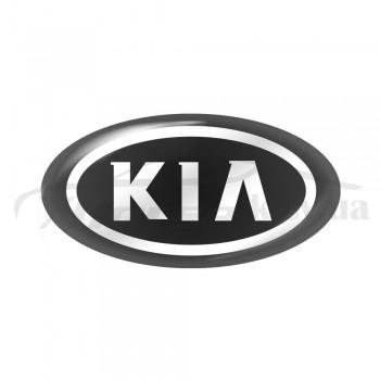 Стикер (наклейка) овал 14,7x7,5 мм Kia для автомобильного ключа
