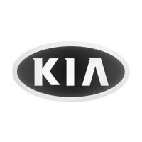 Стікер (наліпка) овал 16,5х8,5 мм KIA для автомобільного ключа