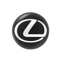 Стікер (наліпка) 14 мм Lexus для автомобільного ключа