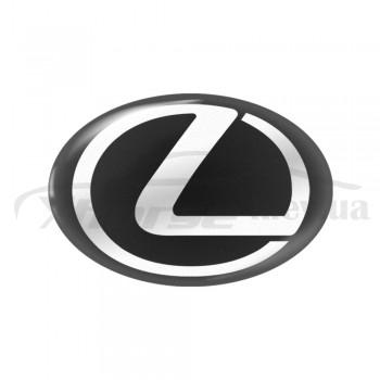 Стикер (наклейка) овал 17,5x11,5 мм Lexus для автомобильного ключа