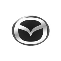 Стікер (наліпка) овал 15x12 мм Mazda для автомобільного ключа