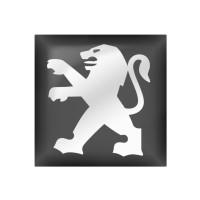 Стікер (наліпка) квадрат 15,6х15,6 мм Peugeot для автомобільного ключа