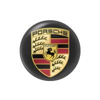 Стікер (наліпка) 14 мм Porsche для автомобільного ключа
