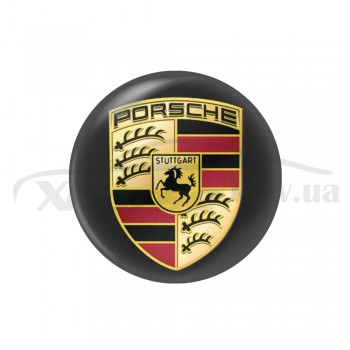 Стикер (наклейка) 14 мм Porsche для автомобильного ключа