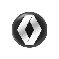 Стікер (наліпка) 14 мм Renault для автомобільного ключа