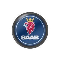 Стікер (наліпка) 14 мм Saab для автомобільного ключа
