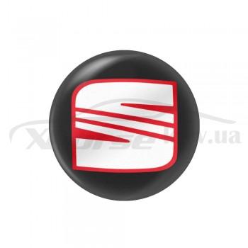 Стикер (наклейка) 12 мм Seat для автомобильного ключа