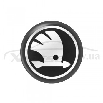 Стикер (наклейка) 12 мм Skoda для автомобильного ключа