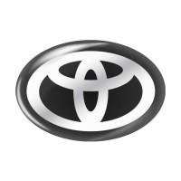 Стікер (наліпка) овал 19x12,8 мм Toyota для автомобільного ключа