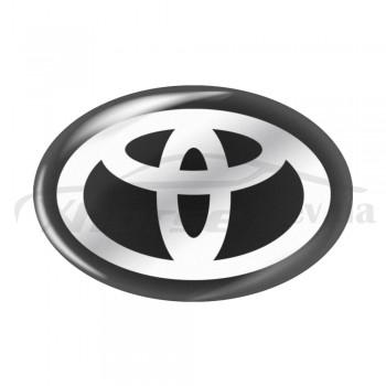 Стикер (наклейка) овал 19x12,8 мм Toyota для автомобильного ключа