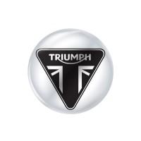 Стікер (наліпка) 14 мм Triumph для ключа мотоцикла.