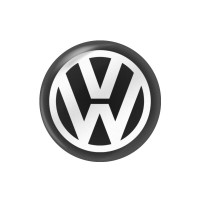 Стикер (наклейка) 10 мм Volkswagen для автомобильного ключа