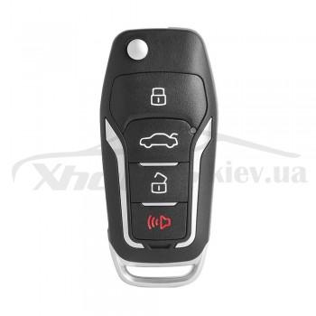 Ключ универсальный выкидной XEFO01EN 3 but + PANIC Xhorse-VVDI