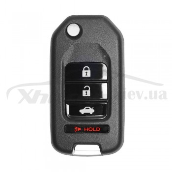 Ключ универсальный выкидной XKHO01EN 3 but+PANIC Xhorse-VVDI