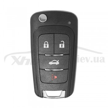 Ключ универсальный выкидной XNBU01EN 3 but+PANIC Xhorse-VVDI